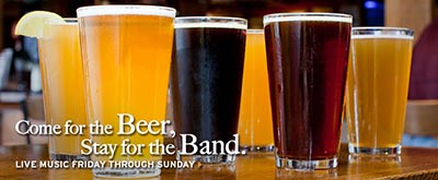 Half Moon Bay Brewing Company - come for the beer, stay for the band, live music Friday through Sunday