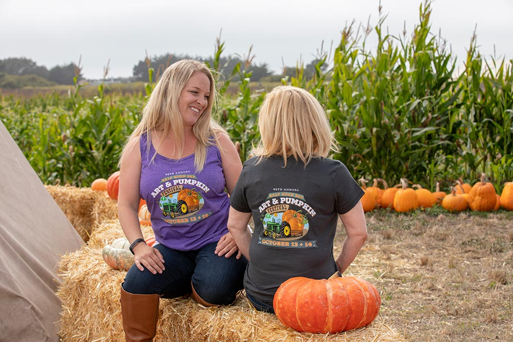 Pumpkin Festival ladies tank and v-neck shirt